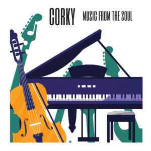 corky, music frem the soul logo